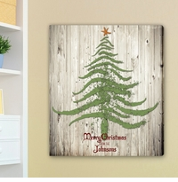 Vintage Christmas Tree Canvas