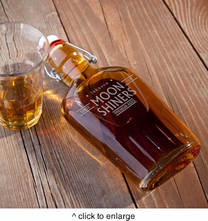 Personalized Vintage Glass Flasks - click to enlarge