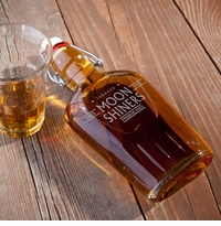 Personalized Vintage Glass Flasks