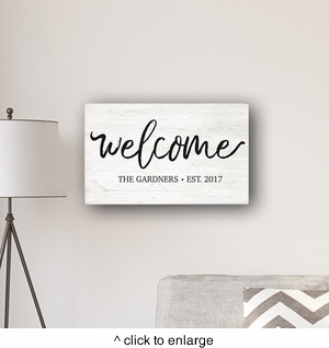 "Welcome Modern Farmhouse 14 x 24"" Canvas Sign - click to enlarge"