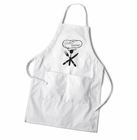 Women's White Apron - Chef's Hat