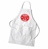 Women's White Apron - Hearts
