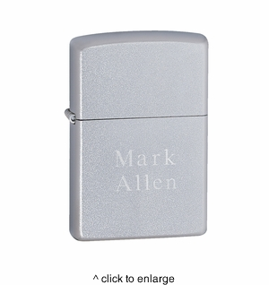 Zippo Satin Chrome Lighter - click to enlarge