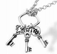 925 Sterling Silver Keys with wishings