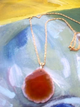 Sliced #agate #necklace