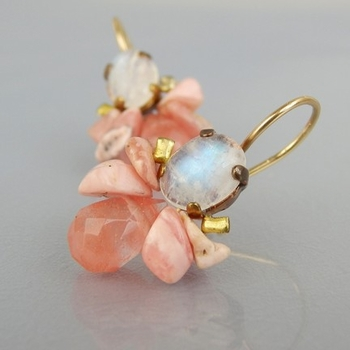 Dangling delicate earrings Gemstones