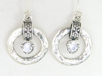 Designer earrings | sterling silver earrings | zircon earrings| Israeli  jewelry