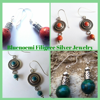 Earrings |Ethnic Silver Earrings |Israeli earrings