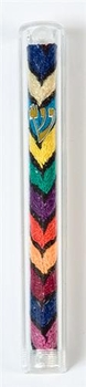 Ethiopian Embroidered Mezuzah Made in Israel
