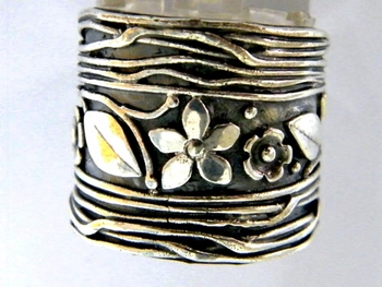 Flowers Boho sterling silver 925 BOHO ring