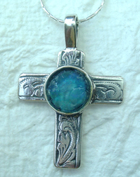 Roman glass cross