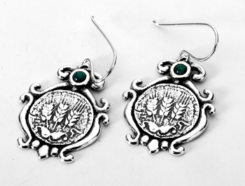 Israeli jewelry dangle earrings sterling silver