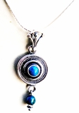 Israeli jewelry Eilat stone silver necklace