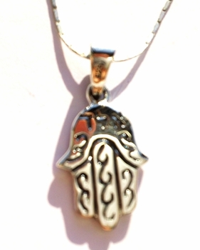Israeli jewelry Hamsa necklace