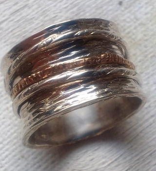 Israeli Spinner ring designer jewelry