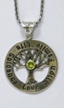 Silver necklace the tree of Life