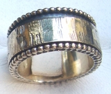 Israeli ring silver spinner rings