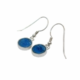 Israeli roman glass jewelry silver earrings