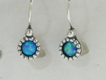 Israeli silver opal earrings