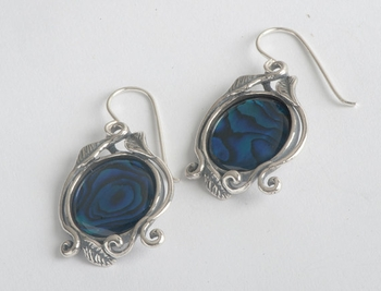 Mother of pearl on sterling silver earrings