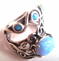 Opal sterling silver ring Israeli ring