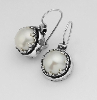 Pearl earrings | silver earrings | unique earrings