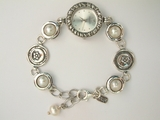Pearls Sterling silver watch