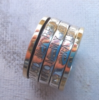 poesy ring Love verses spinner ring