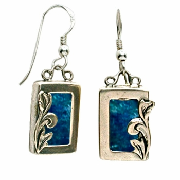 Roman glass dangling earrings