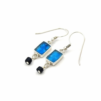 Roman glass earrings dangling israeli earrings