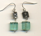 Roman Glass Earrings on silver