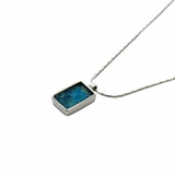 Roman glass jewelry pendant Israeli silver necklace
