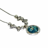Roman glass necklace israeli silver jewelry