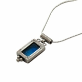 Roman glass necklace silver jewelry from Israel