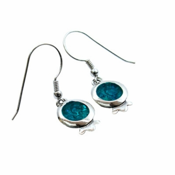 Roman glass pomegranate earrings