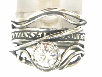 Sterling Silver Ring - Hippie Boho-Chic Ringa