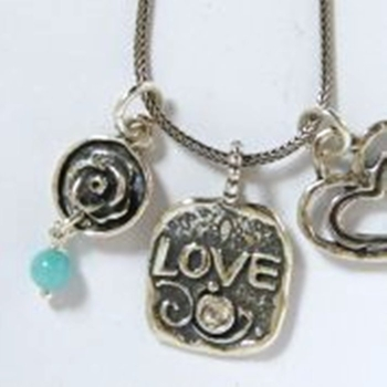 Love necklace sterling silver