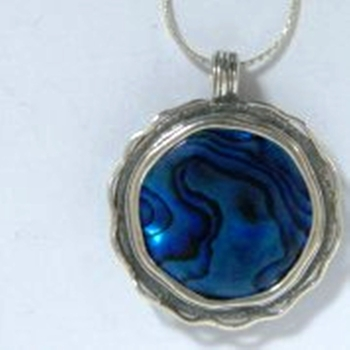 Silver Necklace mother of pearls Abalone