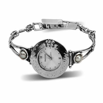 Silver watch for woman set with stones - Watches online shop