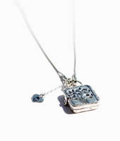 Sterling Silver locket necklace engraved