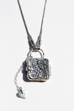 Sterling silver locket necklace engraved with Shma Israel