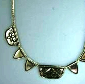 Sterling silver necklace   naif artistic jewelry   collier argent collar