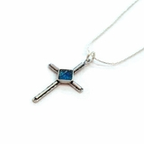 Israeli roman glass cross  pendant