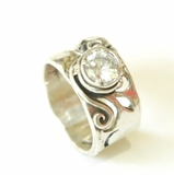 Sterling silver ring set with cz stone