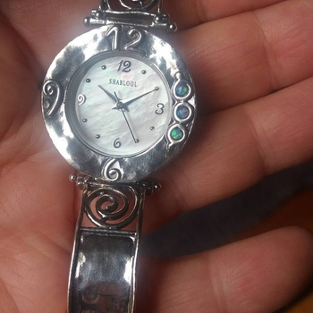 Sterling silver watch for woman
