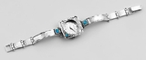 Sterling silver watch for women