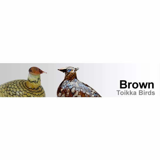 Brown Toikka Birds by iittala