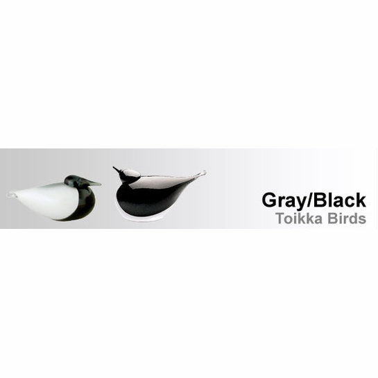 Grey / Black Toikka Birds by iittala