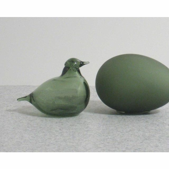 iittala Toikka Olive Green Golden Crested Kinglet