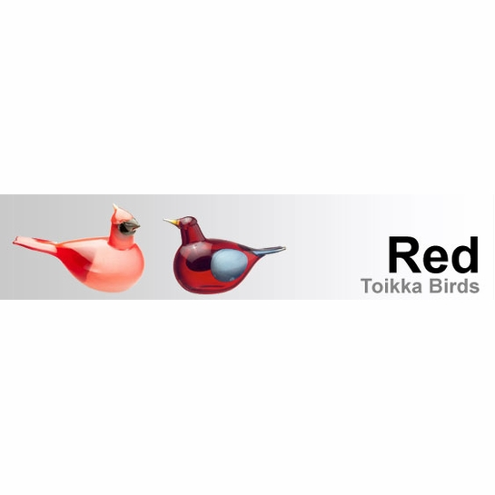Red Toikka Birds by iittala
